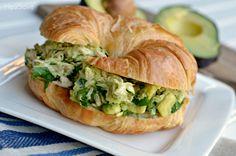 avocado chicken salad {2 c. shredded chicken, chopped avocado, 1/4 c. cilantro, salt, pepper}