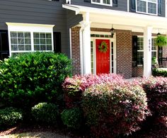 Charcoal Gray House w/ a Red Front Door .. All Mine! :)