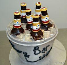 tarta fondant cubo de cervezas amstel