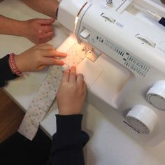 Teaching children how to sew and use a sewing machine with confidence is an essential life skill. For boys and girls. It gives them the ability to make so many of their own things. Sewing Classes For Beginners, Craft Corner, Life Skills, Teaching Kids, Boys, Girls, Boy Or Girl, Confidence, Arts And Crafts