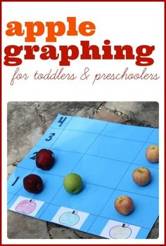 Simple Apple Graphing Activity for Toddlers and Preschoolers