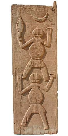 Africa | Ishan Door, Nigeria.  Carved from large single planks, Ishan doors, though rare, are usually figurative. © Tim Hamill