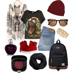 Autumn 1 by spiritofcarnage on Polyvore featuring polyvore, fashion, style, Emma Cook, Hollister Co., Supra, Duffer Of St George, Dorothy Perkins, H&M and Patagonia