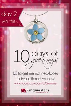 10 Days of LDS Giveaways | Day 2 - Forget me Not Necklaces!