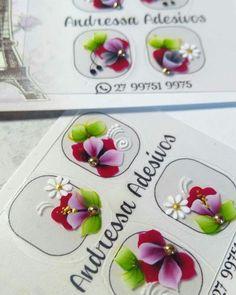 Pasta, Nail Art, Nail Stickers, Nail Jewels, Art Nails, Flower Nail Designs, Nail Gems, Learn To Paint, Nail Designs