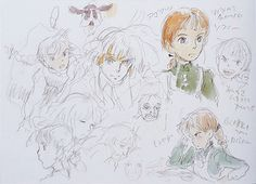 "Concept art ""Howl's Moving Castle"". I love how wild and unorganized Studio Ghibli's concept art is."