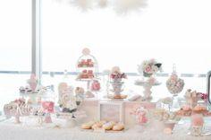 Pink Vintage Wedding | Sugar Coated Mama lolly table, mini bar