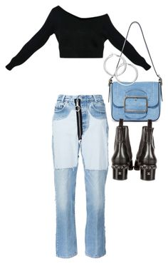 """""""Untitled #22052"""" by florencia95 ❤ liked on Polyvore featuring Off-White, Tory Burch and Chanel"""