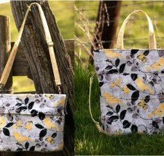 The Carrie Purse converts into the Carrie Tote! Love how versatile this bag sewing pattern is.