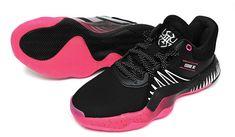 adidas D.O.N. Issue #1 Men's Basketball Shoes NBA Casual Black Pink NWT EF2401 #adidas #BasketballShoes