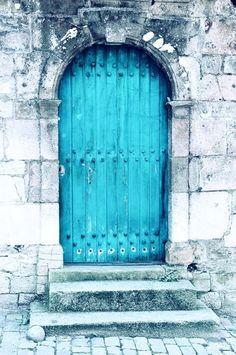Stone & Ocean Blue #door
