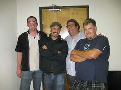 Maz Jabrani, Brant Thoman, Carl Kozlowski and I.