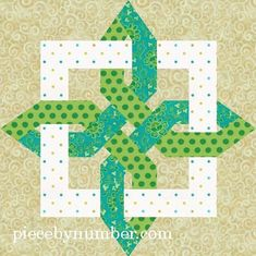 Quilting: Lugano Clover paper pieced quilt block ... pattern available to buy on Craftsy