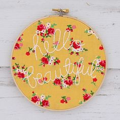 Adorable DIY idea to dress up any wall! #ThreadThursday #Embroidery #Design…