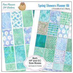 Spring Showers Free Planner Printable #spring #showers #freebie #plannerstickers #planneraddict #plannerlove #biblejournaling