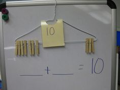 I love this idea for addition and subtraction! This would also good for number bonds.