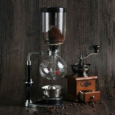 Siphon coffee maker for the ones who enjoy their black gold.