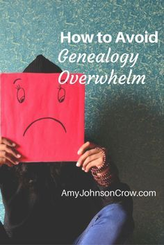 It's easy to feel overwhelmed in genealogy research. Here are some ways to de-stress your family history activities. Three tips: #genealogy #tips #familytree