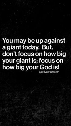 Face your giants in the name of Jesus and they will flee