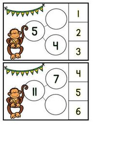 Monkey'n Around with Equations.  Activities for working with equations. Includes 8 fun activities for working with equal sums, true or false equations, missing addends, and balanced equations. There are also some fun printables for extra practice. Both color and blackline versions of the activities are available. $