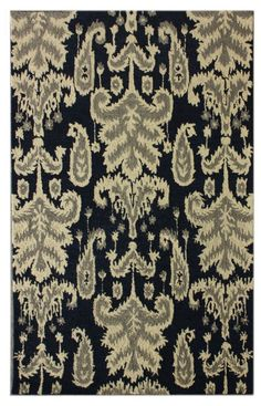 Weird Rugs blue ikat cotton carpet at madeline weinrib | rugs | pinterest
