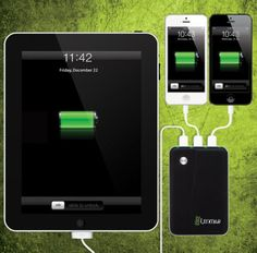 Helix Portable Battery Pack Charges Three Devices at Once