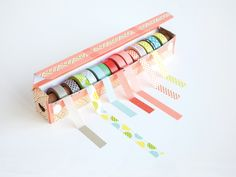 Is your washi tape addiction taking over? Find out how to store washi tape here. Lots of ideas to organize washi tape from creative to easy and DIY. Diy Washi Tape Dispenser, Washi Tape Diy, Diy Washi Tape Storage, Washi Tapes, Diy Washi Tape Organizer, Duct Tape, Masking Tape, Upcycled Crafts, Diy Crafts