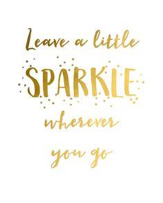 Leave a Little Sparkle... printable art - digital download - instant download…