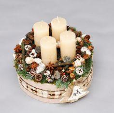 Falura is igényeset! Christmas Advent Wreath, Christmas Tea, Christmas Crafts, Christmas Decorations, Xmas, Holiday, Advent Box, Diy Garland, Best Candles