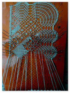 Puntilla de encaje de bolillos por Rosa Torres