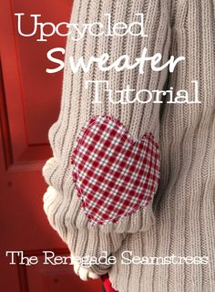 Upcycle a Thrift Store Sweater Just in Time For Valentine's Day
