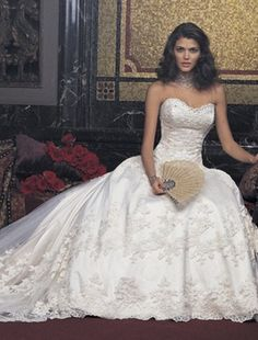 Amalia Carrara - Sweetheart Ball Gown in Beaded Lace