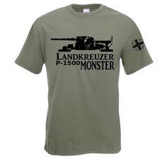 T-Shirt Landkreuzer P1500 Monster in der Farbe oliv / mehr Infos auf: www.Guntia-Militaria-Shop.de