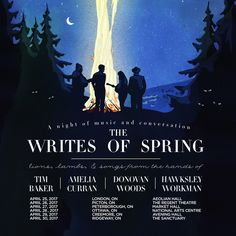The Writes of Spring | Tim Baker, Amelia Curran, Donovan Woods, Hawksley, Creemore, ON live at Avening Community Hall - April 29, 2017 - Sold Out