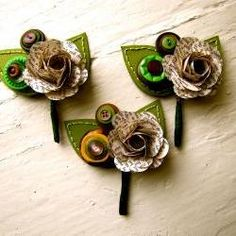 Cute paper flower and buttons for boys