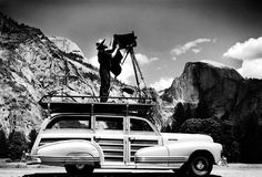 Ansel Adams took incredible landscape photographs -- and had a sweet vintage set-up to do it!