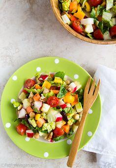Simple Chopped Salad - #vegan