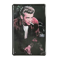 Cuadro de metal impreso vintage JAMES DEAN SMOKING 20x30-