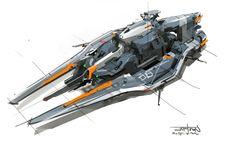 ArtStation - Spaceship, CAPTOON (Lee InSu)