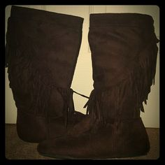 Brown Frindge Boots
