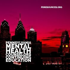 Continuing Education for Pennsylvania Mental Health Counselors. Pennsylvania-licensed mental health counselors have a license renewal every two years with a February deadline. Education Information, Continuing Education, Professional Development, Pennsylvania, Mental Health, Mental Illness