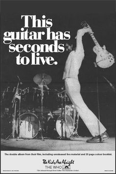 The Who #ad - The guitar has seconds to live