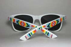 beaded sunglasses tribal print design. $79.00, via Etsy.