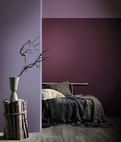 Intense and atmospheric, Faded Berries celebrates wild and untamed nature. Enhance this rich colour Cherry Wood Furniture, Natural Wood Furniture, Natural Wood Flooring, Rustic Wood Furniture, Wood Bedroom Furniture, Black Furniture, Colorful Furniture, Bedroom Decor, Bedroom Ideas