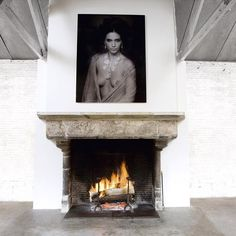 Original Medieval fireplace in limestone from a French abbey. For more realisations by Maison Léon Van den Bogaert, visit www.antiquefireplace.be#antiques #fireplace #french #abbey #limestone #interiordesign #home #marclagrange #photography #art #decoration #maisonleonvandenbogaert#antiquefireplace#interiordesign#frenchcountry#homedecor#kamine#fireside#howtospendit#musthave#