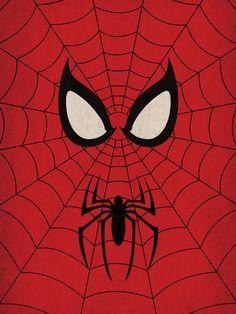 Marvel Comic Store Superheroes Minimalist Spiderman by TheRetroInc