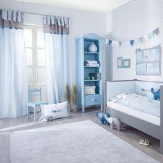 Gardinen Babyzimmer wimpel girlande für kinderzimmer blau home girlanden