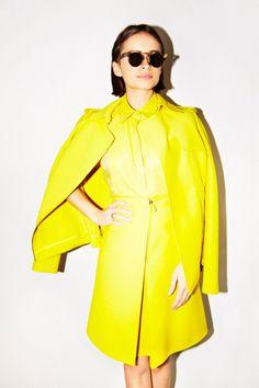 Miroslava doing lemon yellow. http://www.thecoveteur.com/miroslava_duma