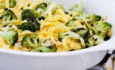 Talharim com brócolis assado ao alho e óleo e lascas de parmesão - Cozinha Prática Rita Lobo - Muito bom!