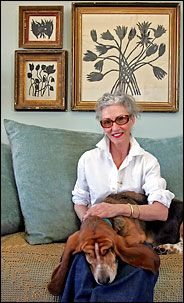 Linda Rodin with her collection of Hugo Guinness prints. I hope I have as much style as her at that age.